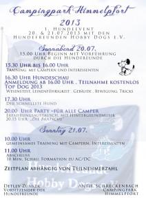 Camping in Himmelpfort am 20./21. Juli 2013